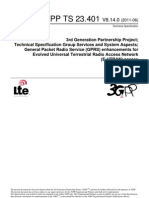 TS 23401-8e0 Rel8 -GPRS Enhancement to LTE
