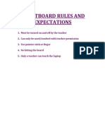 Smartboard Rules and Expectations