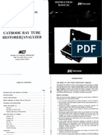 b&k 467 Crt Restorer Analyzer Manual