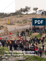 The Right to Demonstrate – position paper