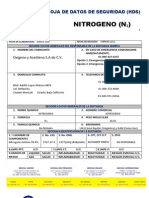 Ficha de Seguridad Nitrogeno