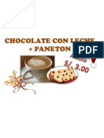 Chocolate Con Leche + Paneton