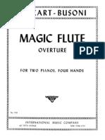 Die Zauberflöte Ouverture piano duo - Busoni