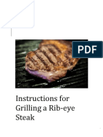 instructions for grilling a steak