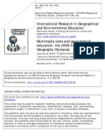 Multimedia tests and geographical education