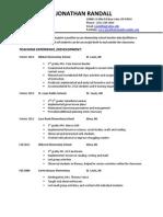 resume- jonathan randall2