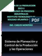 GESTION DE LA PRODUCCION