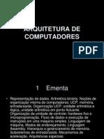 Ac 00 Arquitetura de Computadores