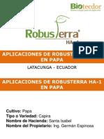 Aplicaciones de Robusterra Ha-1 en Papa