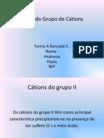 Segundo Grupo de Cátions