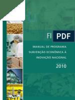 Manual Subvencao2010 FINEP