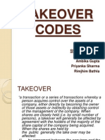 Takeover Codes