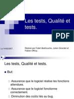 Tests et Qualité