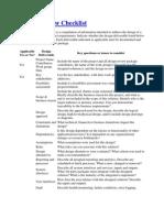 Design Review Checklist