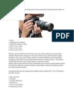 Pengambilan Gambar Dalam Photographi