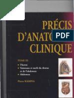 Kamina THORAX Anatomie Clinique Fumed