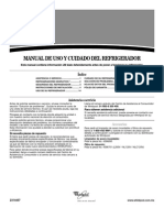 Manual de Usuario-refrigeradora Whirlpool