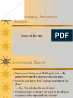48323566 Introduction to Investment Analysis Rates of Return