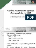 Obnova katastrálního operátu přepracováním na KMD - Využitelné podklady a číslování bodů