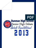 DHS Debate Invitational 2013 Tournament Booklet