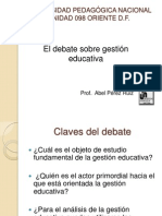 Debate gestión educativa.ppt