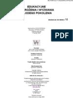 P. Gąsiorek M. ARCHER I T. PARSONSA ANALIZA EDUKACJI - STUDIUM PORÓWNAWCZE