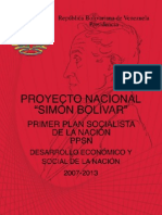 48246763 Proyecto Nacional Simon Bolivar Primer Plan Socialista de La Nacion