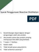 Aplikasi Reaktif Distilasi