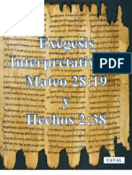 Exegesis Mateo-y Hechos
