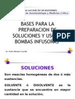 PREPARACION DE SOLUCIONES Y USO DE BOMBAS INFUSORAS