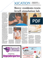 St. Mary Mercy residents train at Schoolcraft simulation lab