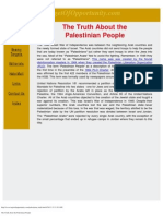 The Truth About the Palestinian People
