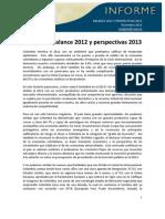 ANDI Balance 2012 Perspectivas 2013 - Reciclaje