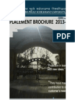 Training and Placement Brochure of MJPRU