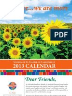 Sisters of St. Joseph Promotional Calendar