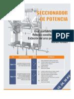 Ficha Tecnica - Seccionador de Potencia Felmec