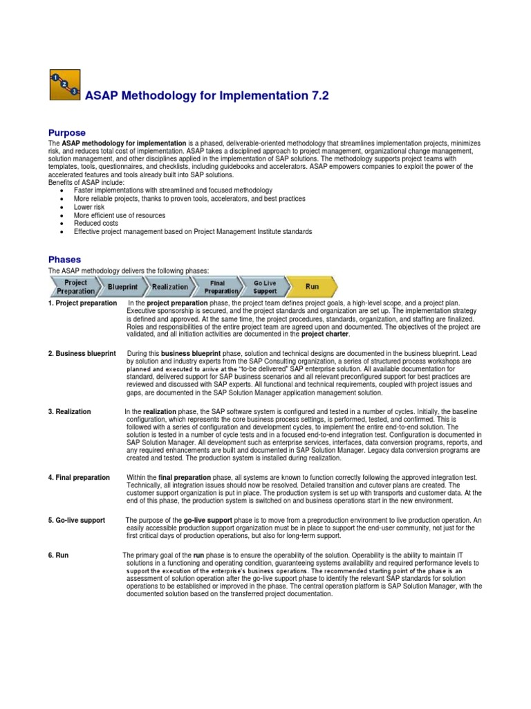 Asap methodology 1st phase project preparation project asap methodology 1st phase project preparation project management business process malvernweather Choice Image