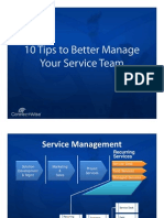 10 Tips for IT Service Management