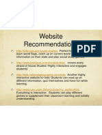 WebsiteRecommendations EDEL453 WIKI