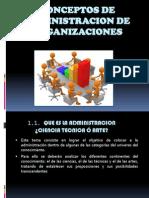 Conceptos de Administracion de Organizaciones (1)