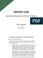 HARMON LAW - Andrew Harmon Signatures