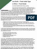 Diatomaceous Earth Food Grade info