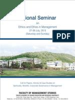National Seminar- Brochure