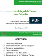 Politica de Tierras en Colombia