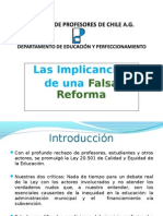 Implicancias de Una Falsa Reforma
