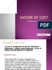 Nature of Cost (Arvinder)