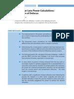 IOL Power Calculation, Correction of Defocus - CH 4