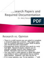 Research and Documentation (97)