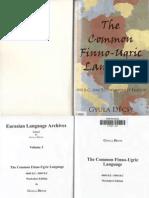 Decsy 2006 the Common Finno-ugric Language