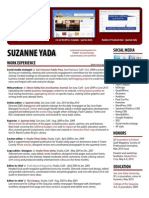 Suzanne Yada Resume - Revised 7/14/10